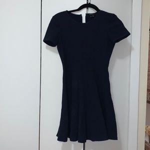 Theory A-line Navy Dress